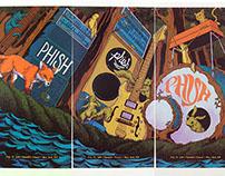 """""""The Secret Set"""" Triptych by James Flames"""