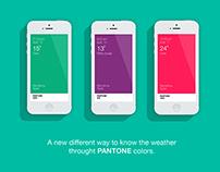 Pantone Weather App