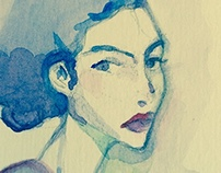 ''' Aquarelle ''' Blue '''