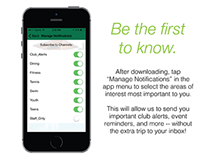 The Briar Club App - Email Marketing