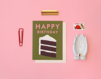 Cream Cake Birthday Card