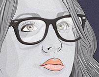 Kaley Cuoco Illustration