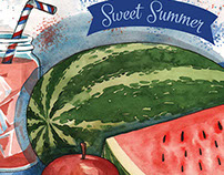 Sweet Summer - Kimberton Whole Food's July Cover Art