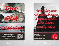 Backstage Concert Pass Design