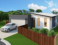 3D Exterior Visualisation - Sloping Block