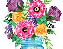 Flora Ball Jar
