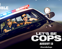 Let's Be Cops Movie Graphic Design and Set Concepts