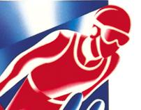 Albertville, France. Winter Olympics poster