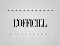 WEBSITE FOR L'OFFICIEL