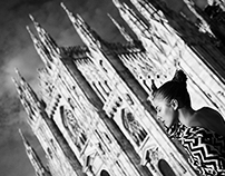 One day in Milan. BW