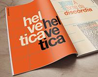 Magazine spread 'Helvetica - a fonte da discórdia'