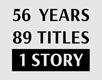 56 years, 89 titles and a single story about Ukraine