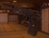 "lot armes low-poly ""12 jours """