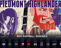 2014 Piedmont Football Schedule