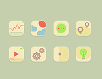 Freebie! 8 pastel icons in PSD