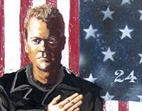 Kiefer Sutherland as Jack Bauer in '24'