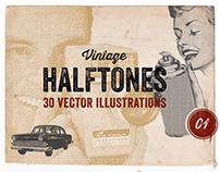 Vintage Halftone Vectors
