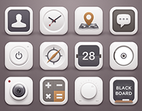 White Winter Icons