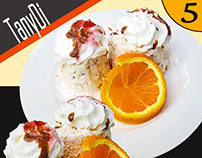 Ice-Cream Dessert with Orange Slice