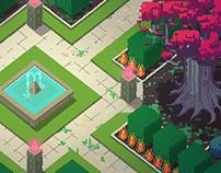 Pixel Art Background for Girls Make Games