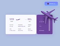 Boarding Pass design - (Freebie)