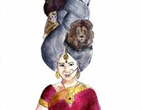 Cultures; watercolor