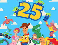 Toy Story 25th anniversary illustration