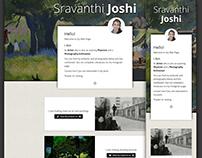Sravanthi Joshi - Place Holder Webpage