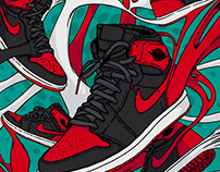 Air Jordan 1 Retro High OG Banned - Illustration