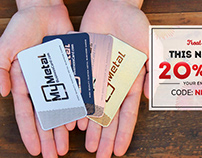 New Year Sale - 20% Off Metal Business Cards