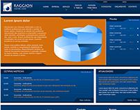 Layout e Grid do novo Website da Raggion Contabilidade.