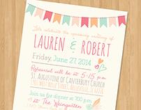 Lauren & Roberts Rehearsal Invites