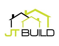 JT BUILD logo design