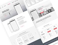 iMobile App Landing Page
