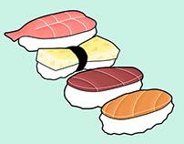 Sushi Cards
