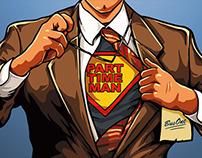 Superhero Vector - Cartoon Man