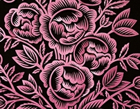 Papercut designs: Pink bouquet
