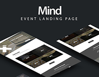 Event Landing Page .psd