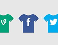 Social T-Shirt Icons