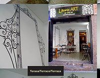 "Bar-gallery ""Lituania ART"". Barcelona, Spain"