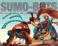 Sumo-Bot Poster Illustration