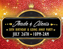 Jhade & Alexis 30th Birthday & Going Away... | [Flyer]