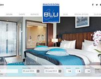 Spec Design for Radisson Blu Homepage