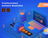 Free* Cryptocurrency Isometric Illustration