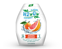 H2wOw Water Enhancer Packaging Design