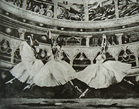 Etching ''Living theater''