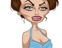 Sophia Loren caricature