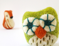 Needle felt Brooches