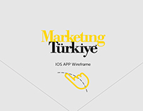Marketing türkiye IOS App wireframe