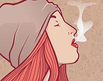 Girl Smoke - illustration